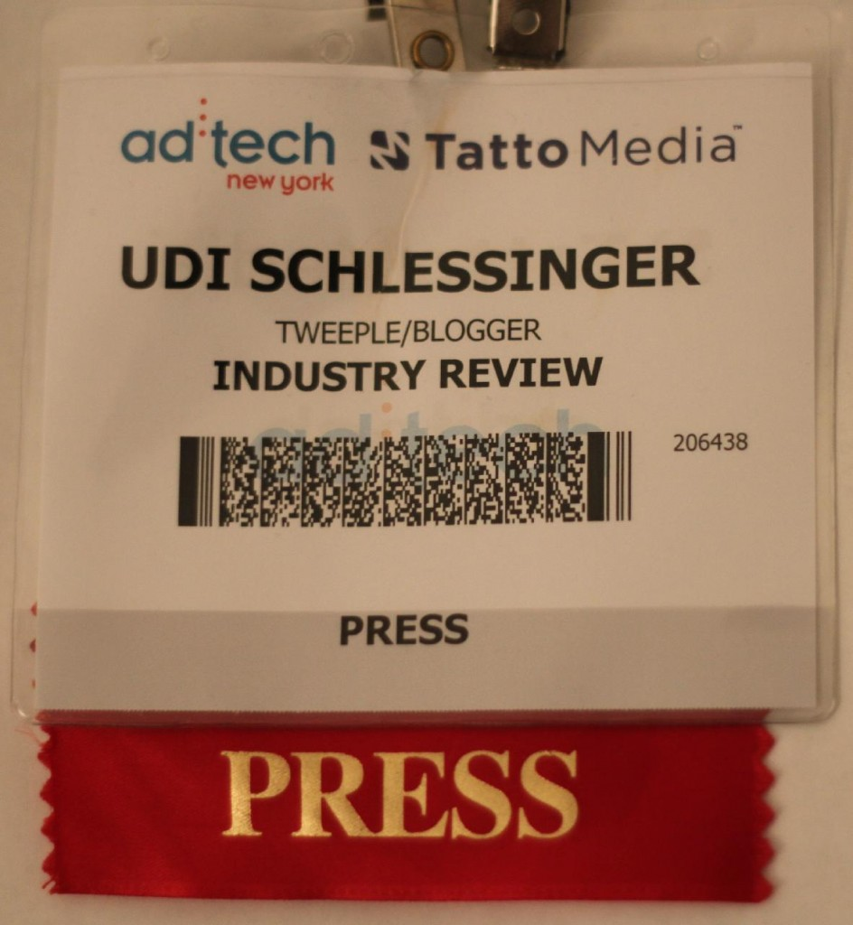 udi schlessinger's press badge