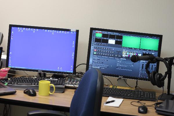 A professional recording studio